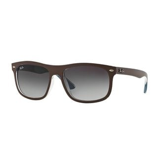 Ray-Ban Men's RB4226F Chocolate Plastic Rectangle Sunglasses