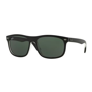 Ray-Ban Men's RB4226F Black Plastic Rectangle Sunglasses