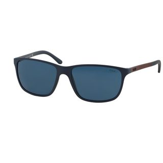 Polo by Ralph Lauren Men's PH4092 Blue Plastic Square Sunglasses