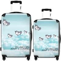 iKase 'Unicorns' 2-piece Fashion Harside Spinner Luggage Set