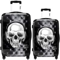 iKase 'Skull Electric' 2-piece Fashion Harside Spinner Luggage Set