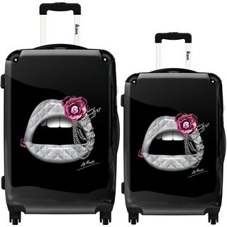 iKase 'Lips 3D Coco' 2-piece Fashion Harside Spinner Luggage Set