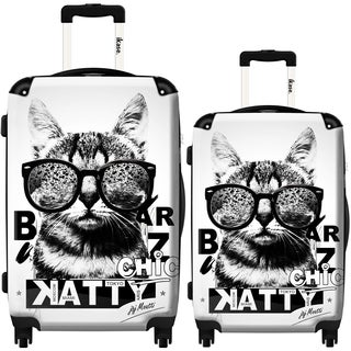 iKase 'Liberty Cat' 2-piece Fashion Harside Spinner Luggage Set