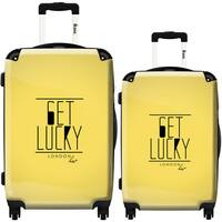 iKase 'Get Lucky' 2-piece Fashion Harside Spinner Luggage Set