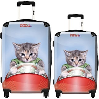 iKase 'Tabby Is Racing' 2-piece Fashion Harside Spinner Luggage Set