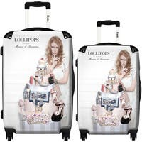 iKase 'Lollipops Fashion Discrete' 2-piece Fashion Harside Spinner Luggage Set