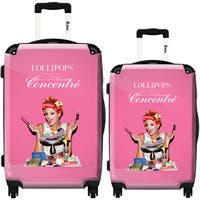 iKase 'Lollipops Gourmand' 2-piece Fashion Harside Spinner Luggage Set