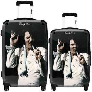 iKase 'Elvis Presley 14' 2-piece Fashion Harside Spinner Luggage Set