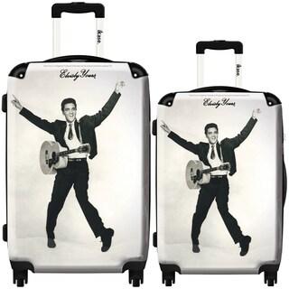 iKase 'Elvis Presley 3' 2-piece Fashion Harside Spinner Luggage Set
