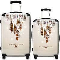 iKase 'Feathers Parades' 2-piece Fashion Harside Spinner Luggage Set