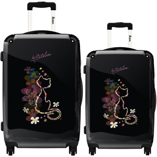 iKase 'Cat Shape in Flower' 2-piece Fashion Harside Spinner Luggage Set