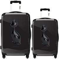 iKase 'Black Cat 3D' 2-piece Fashion Harside Spinner Luggage Set