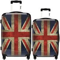 iKase 'UK Vintage Flag' 2-piece Fashion Harside Spinner Luggage Set