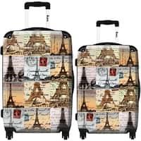 iKase 'Eiffel Tower 3D' 2-piece Fashion Hardside Spinner Luggage Set