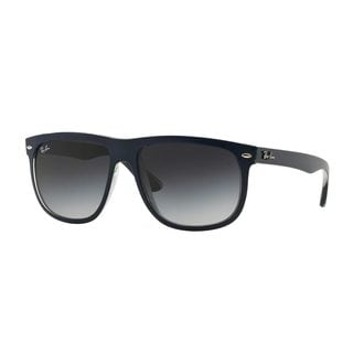 Ray-Ban Men's RB4147 60 Blue Plastic Square Sunglasses