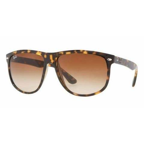 Ray-Ban Men's RB4147 60 Tortoise Plastic Square Sunglasses