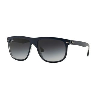 Ray-Ban Men's RB4147 56 Blue Plastic Square Sunglasses