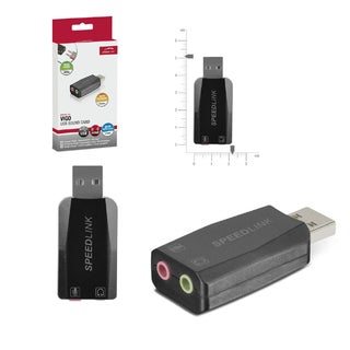 Speedlink Universal Vigo USB Sound Card for PC/ Desktop Computer