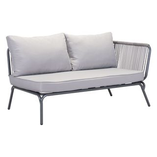 Pier Raf Grey Right Armed Outdoor Loveseat