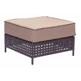 Pinery Brown and Beige Patio Ottoman
