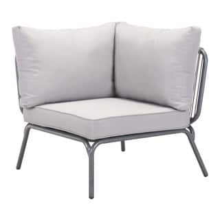 Pier Raf Grey Left Armed Outdoor Loveseat