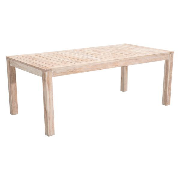 West Port Solid Teak Wood Outdoor Dining Table Free Shipping Today Overst