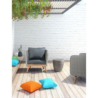 Dad Outdoor Cement Stool With Rope Handles