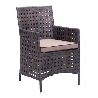 Pinery Brown and Beige Woven Dining Chairs (Set of 2)