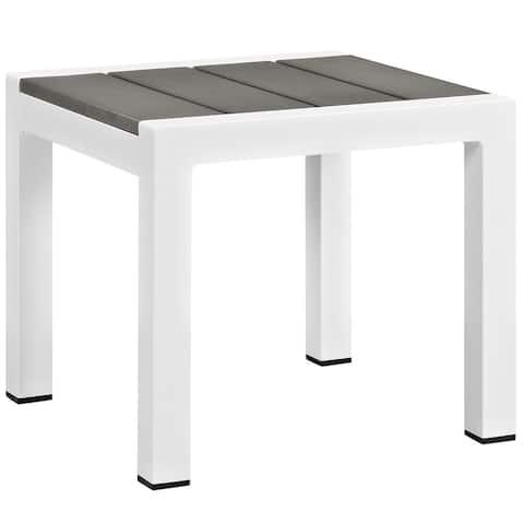 Beach Outdoor Patio Aluminum Side Table