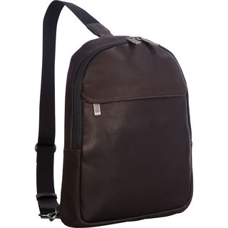 Kenneth Cole Reaction Brown Colombian Leather Backpack Sling Tablet Case