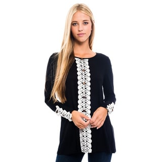 Women's Black Lace Down Tunic