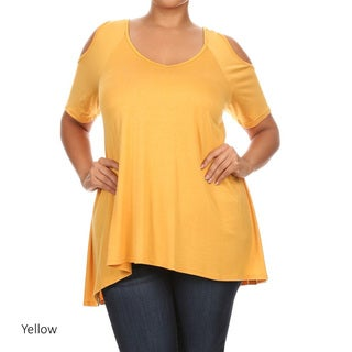 Plus Size Women's Solid Shirt