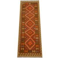 Herat Oriental Afghan Hand-woven Vegetable Dye Wool Kilim Runner (2'11 x 8'3) - 2'11 x 8'3
