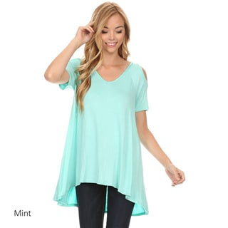 Women's Rayon/Spandex Solid Shirt