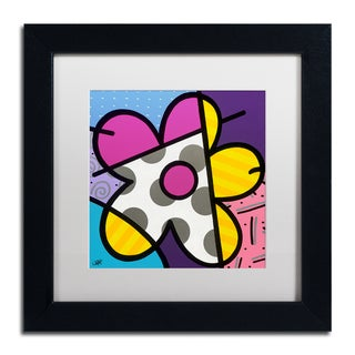 Roberto Rafael 'Big Flower II' Matted Framed Art