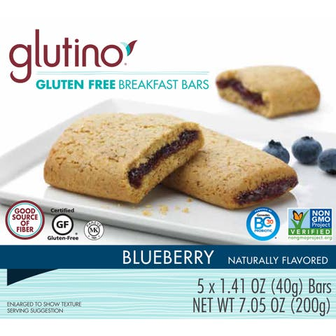 Glutino Gluten-free 7-ounce Blueberry Breakfast Bars (2 Boxes)