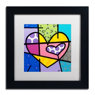 Roberto Rafael 'Big Heart IV' Matted Framed Art