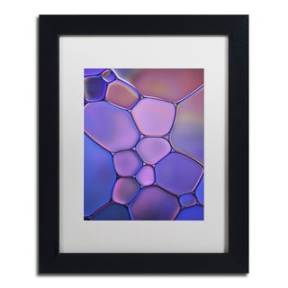 Cora Niele 'Purple Stained Glass' Matted Framed Art