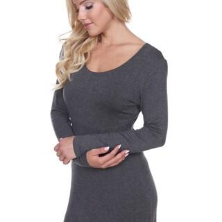 White Mark Women's Ria Viscose/Spandex Dress
