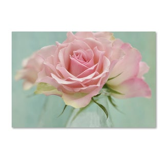 Cora Niele 'Pink Roses' Canvas Art