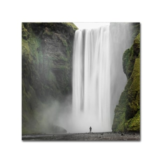 Philippe Sainte-Laudy 'Alone at Skogafoss' Canvas Art