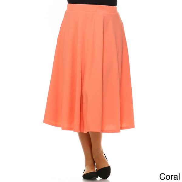 Plus Solid Tie Wrap Maxi Dress Side Pocket Long Sweep Skirt Black Yellow Coral
