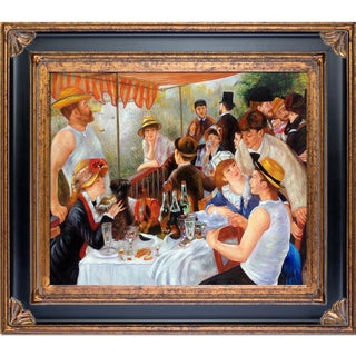 Pierre-Auguste Renoir 'Luncheon of the Boating Party' Hand Painted Framed Canvas Art