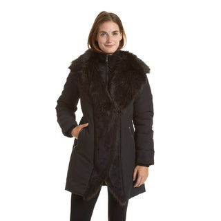 Excelled Women's Black Faux Shearling Jacket
