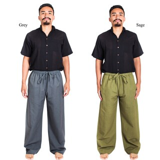 Handmade Hemp-cotton Blend Classic Lounge Pants (Nepal)