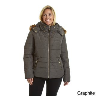 Excelled Women's Hooded Short Puffer