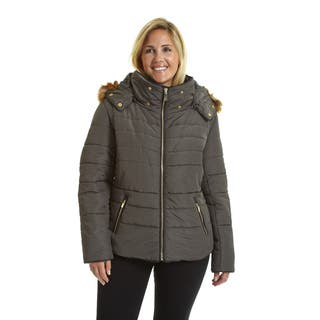 Excelled Women's Hooded Short Puffer|https://ak1.ostkcdn.com/images/products/12381887/P19204767.jpg?impolicy=medium
