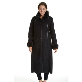 Excelled Women's Full-length Faux Shearling Jacket