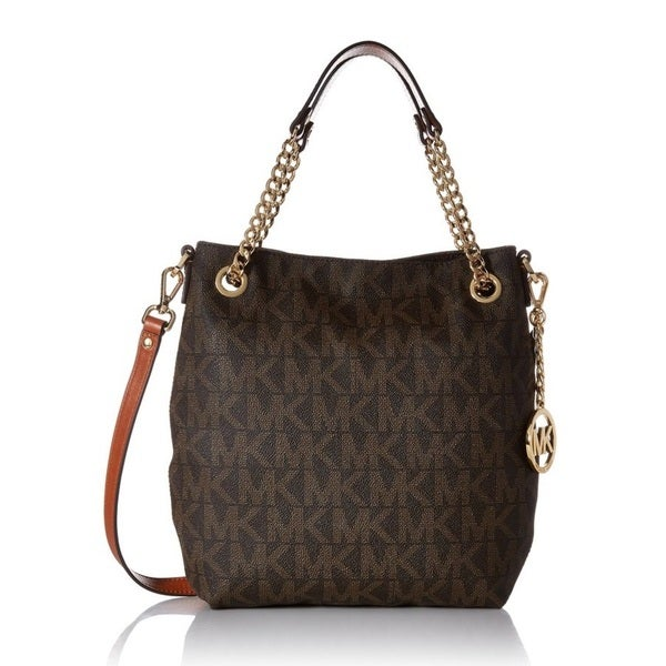 Michael Kors Jet Set Chain Medium Shoulder Tote Brown