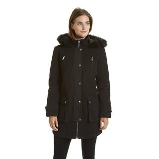 Excelled Women's Faux Wool Hooded Multi Pocket Jacket|https://ak1.ostkcdn.com/images/products/12382007/P19204971.jpg?impolicy=medium